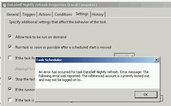 Microsoft Task Scheduler - DataSelf Knowledge Base
